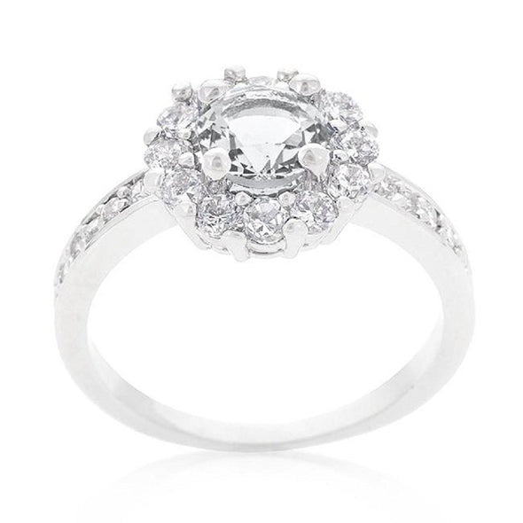WildKlass Birthstone Engagement Ring in Clear-WildKlass Jewelry