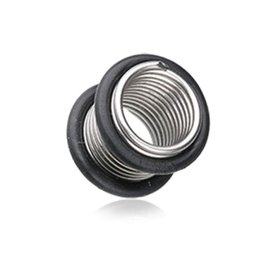 Spring Coil No Flare Ear Gauge Tunnel WildKlass Plug-WildKlass Jewelry