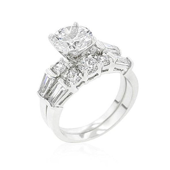 WildKlass Engagement Set with Large Center Stone-WildKlass Jewelry