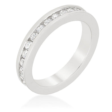 WildKlass Channel Set Eternity Band-WildKlass Jewelry
