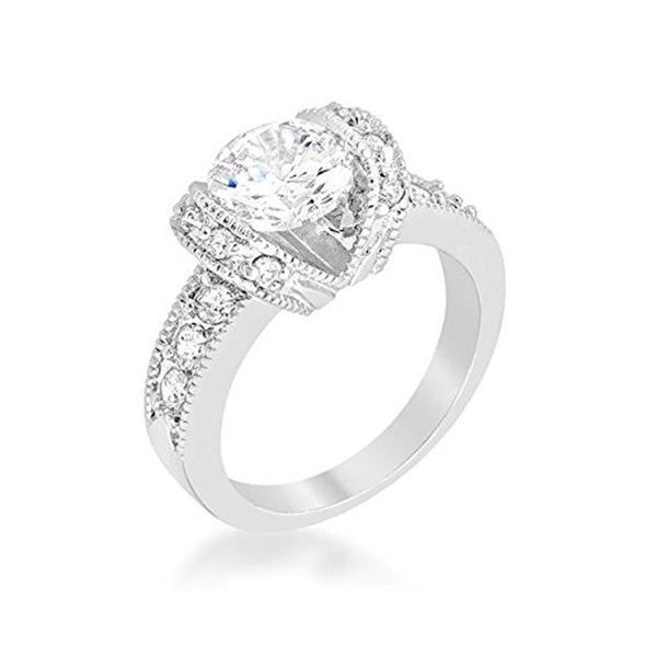 WildKlass Tension Set Engagement Ring-WildKlass Jewelry