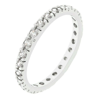 WildKlass Clear Cubic Zirconia Eternity Ring-WildKlass Jewelry