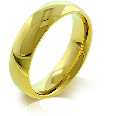 WildKlass 5 mm IPG Gold Stainless Steel Band-WildKlass Jewelry