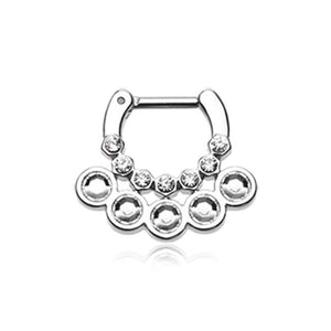 Aureole Gemina Sparkle WildKlass Septum Clicker-WildKlass Jewelry