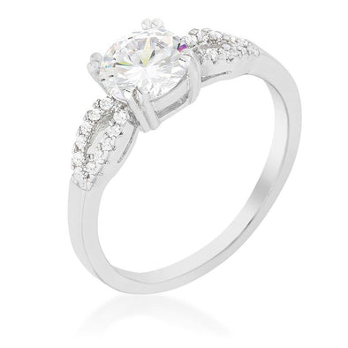 WildKlass Round Solitaire Engagement Ring-WildKlass Jewelry