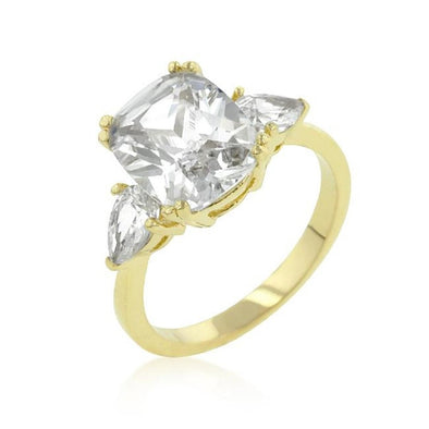 WildKlass Radiant Cut Engagement Triplet-WildKlass Jewelry