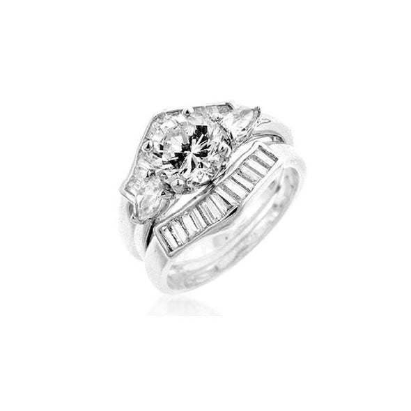 WildKlass Two-Piece Engagement Ring Set-WildKlass Jewelry
