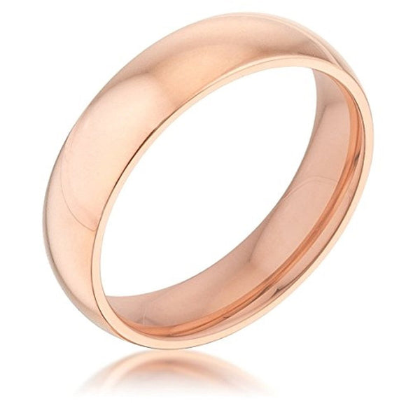 WildKlass 5 mm IPG Rose Gold Stainless Steel Band-WildKlass Jewelry