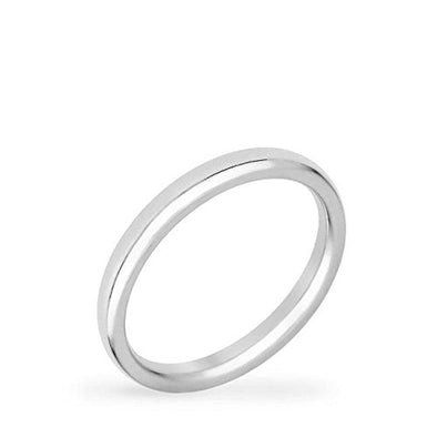 WildKlass 2 mm Stainless Steel Wedding Band-WildKlass Jewelry