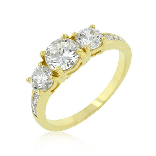 WildKlass Triplet Golden Wedding Ring-WildKlass Jewelry