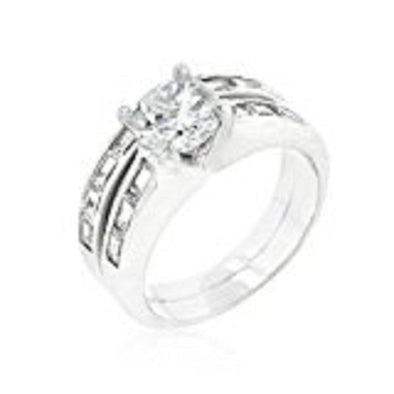 WildKlass Rhodium Plated Stackable Ring Set-WildKlass Jewelry