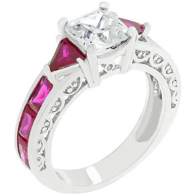 WildKlass Ruby Red Regal Ring-WildKlass Jewelry