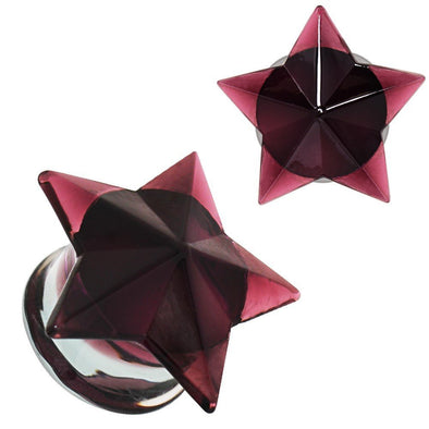 Purple Faceted Star Glass WildKlass Plug-WildKlass Jewelry