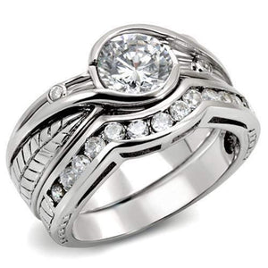 WildKlass 925 Sterling Silver Ring Rhodium Women AAA Grade CZ Clear
