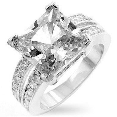 WildKlass White Princess Engagement Ring-WildKlass Jewelry
