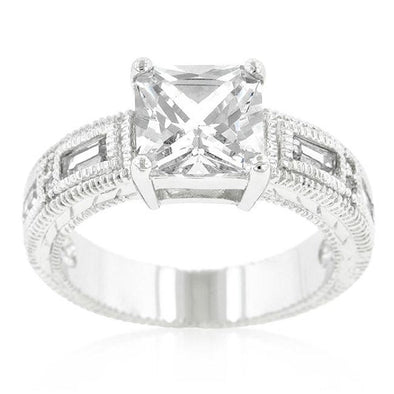 WildKlass Clear Cubic Zirconia 5-Stone Ring-WildKlass Jewelry