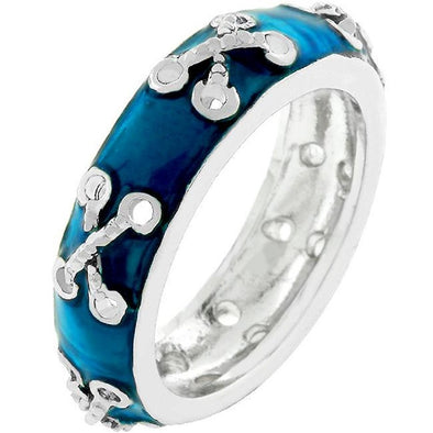 WildKlass Laced Enamel Eternity Band-WildKlass Jewelry