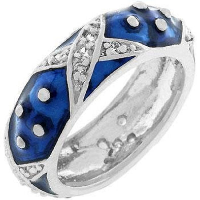 WildKlass Marbled Navy Blue Enamel Ring-WildKlass Jewelry
