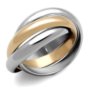 WildKlass Stainless Steel Ring Two-Tone IP Rose Gold Women