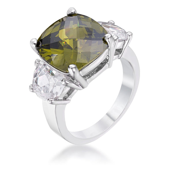 WildKlass Olive Triplet Ring-WildKlass Jewelry