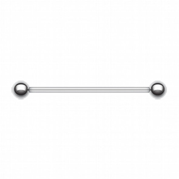 Basic Steel Industrial Barbell-WildKlass Jewelry