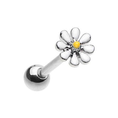Daisy Flower Barbell WildKlass Tongue Ring-WildKlass Jewelry