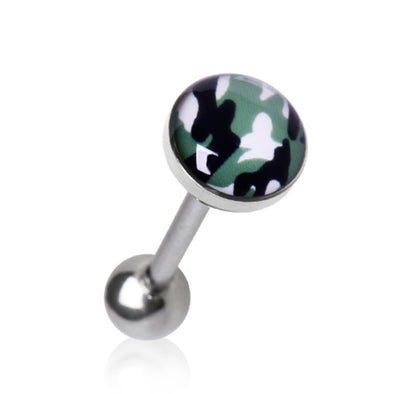 316L Surgical Steel Camouflage Flat Barbell-WildKlass Jewelry