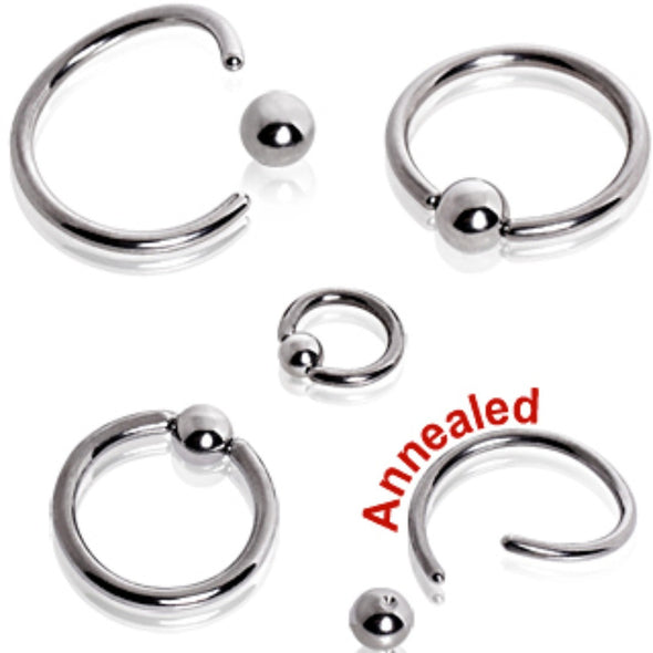 316L Surgical Steel Annealed Captive Bead Ring-WildKlass Jewelry