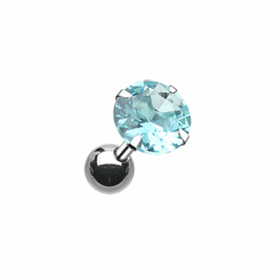 Round Gem Crystal Cartilage Tragus Earring-WildKlass Jewelry
