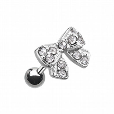 Dainty Bow-Tie Cartilage Tragus Earring-WildKlass Jewelry