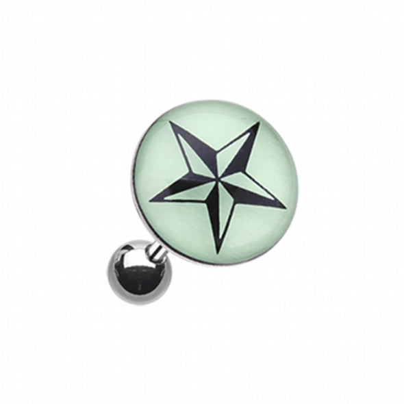 Glow in the Dark Nautical Star Cartilage Tragus Earring-WildKlass Jewelry