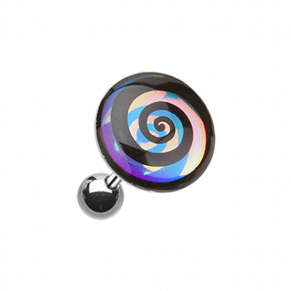 Chroma Flair Hypnotic Swirl Cartilage Tragus Earring-WildKlass Jewelry
