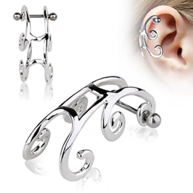 316L Surgical Steel Sleigh Cartilage Earring-WildKlass Jewelry