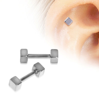 316L Surgical Steel Cubed Cartilage Earring-WildKlass Jewelry