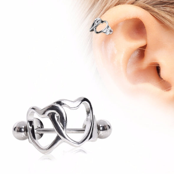 316L Surgical Steel Four Star Cartilage Cuff-WildKlass Jewelry