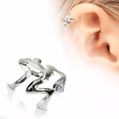 316L Stainless Steel Tree Frog Fake Cartilage Ear Cuff-WildKlass Jewelry