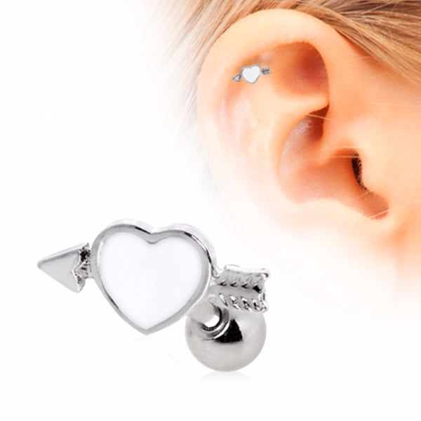 316L Surgical Steel Arrow Through Your Heart Cartilage Earring-WildKlass Jewelry
