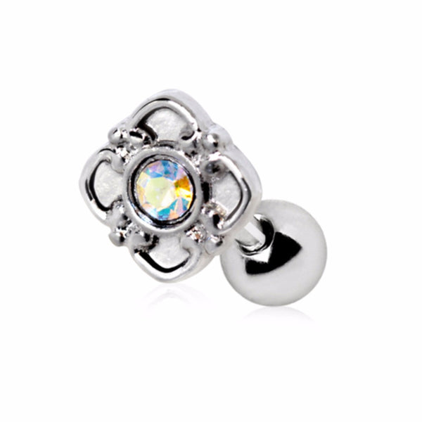 316L Stainless Steel Aurora Flower Cartilage Earring-WildKlass Jewelry