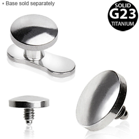 Grade 23 Titanium Flat Disc Dermal Top-WildKlass Jewelry