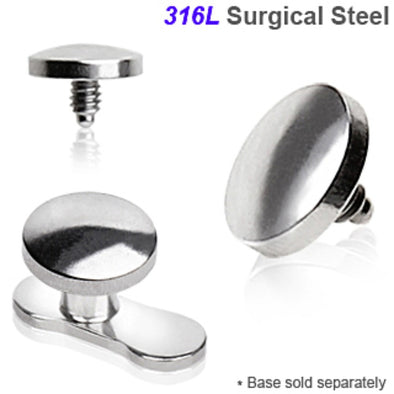 316L Surgical Steel Flat Disc Dermal Top-WildKlass Jewelry