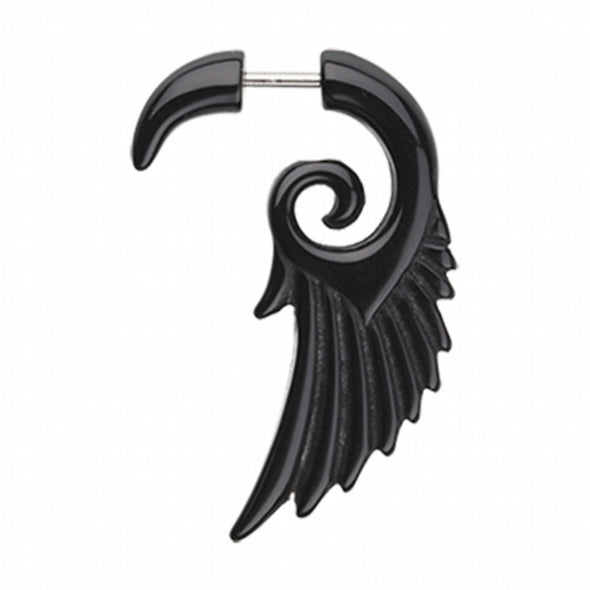 Angelic Wing Fake Hanging Taper-WildKlass Jewelry