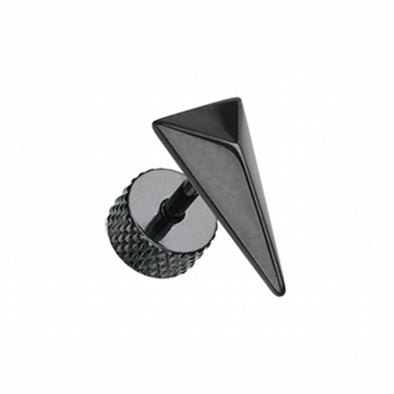 Blackline Triangle Force Steel Fake Plug-WildKlass Jewelry