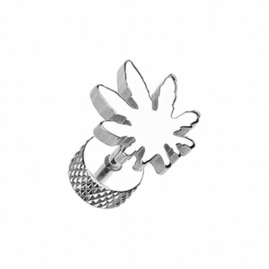 Pot Leaf Steel Fake Plug-WildKlass Jewelry