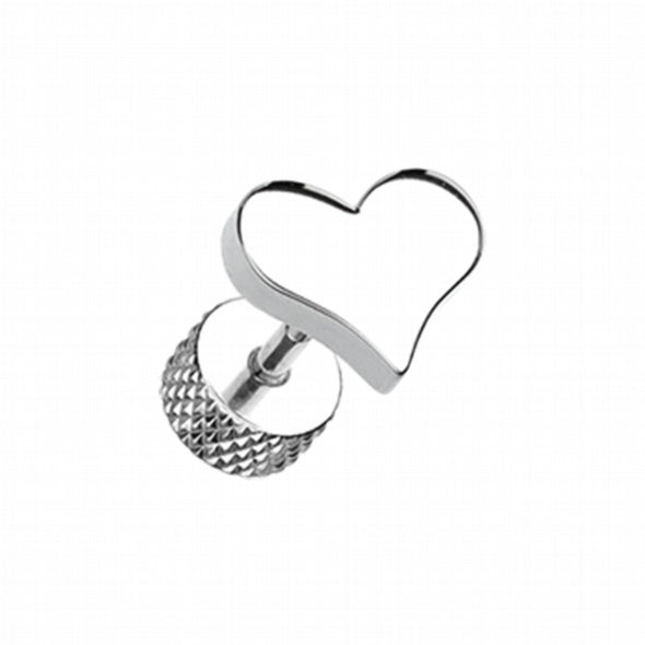 Lovely Heart Steel Fake Plug-WildKlass Jewelry