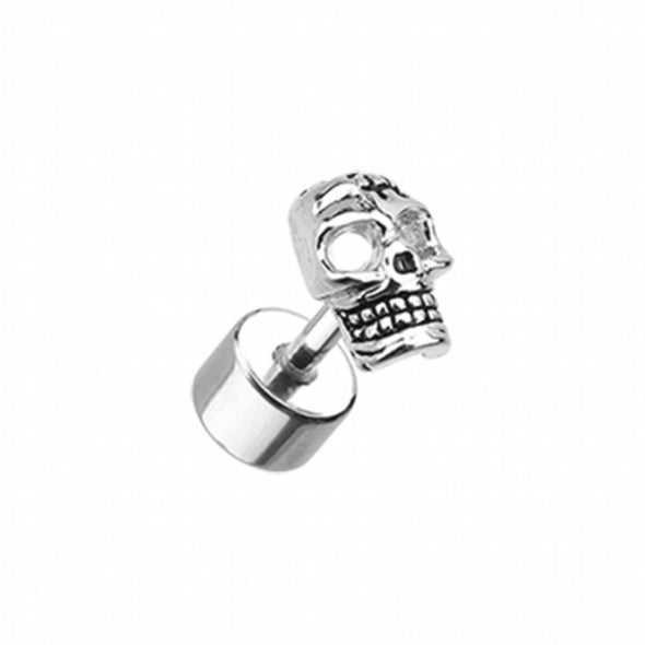 Savage Skull Steel Fake Plug-WildKlass Jewelry