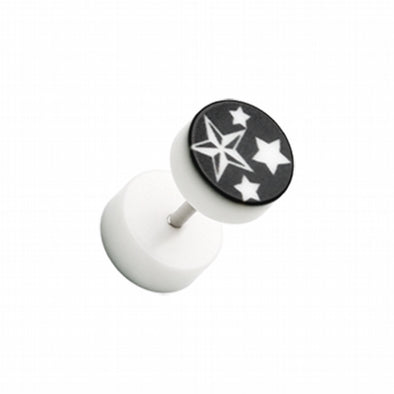 Nautical Star UV Acrylic Fake Plug-WildKlass Jewelry