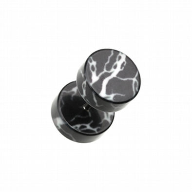 Lightning Thunder Acrylic Fake Plug-WildKlass Jewelry