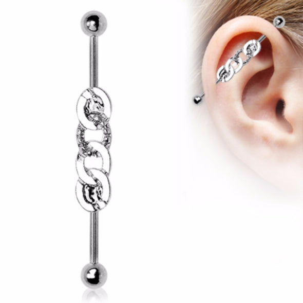 316L Stainless Steel Rope Chain Industrial Barbell-WildKlass Jewelry