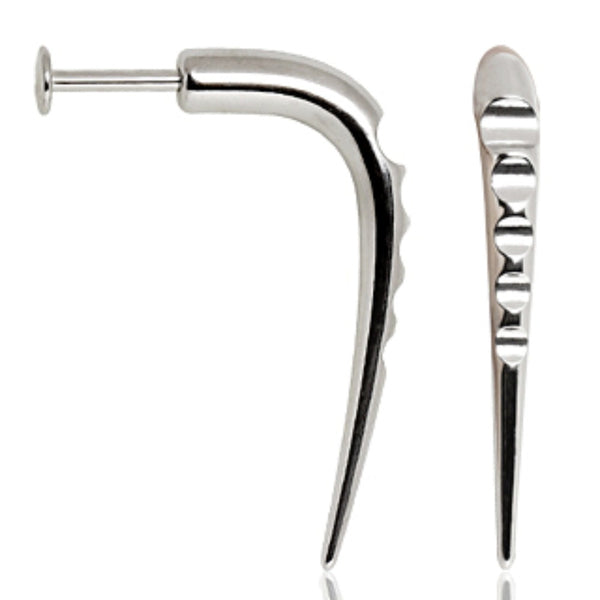 316L Surgical Steel Labret with Grooved Claw-WildKlass Jewelry