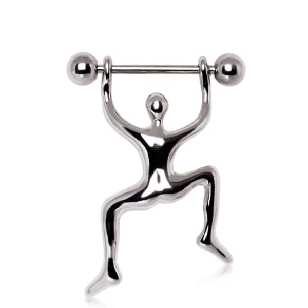 316L Surgical Steel Climbing Man Nipple Ring-WildKlass Jewelry